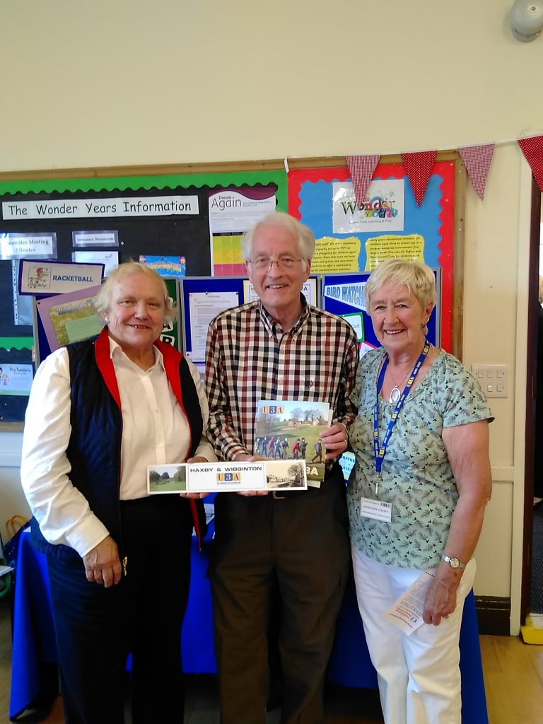 Cllr Ian Cuthbertson with representatives from U3A at Wigginton Recreation Hall